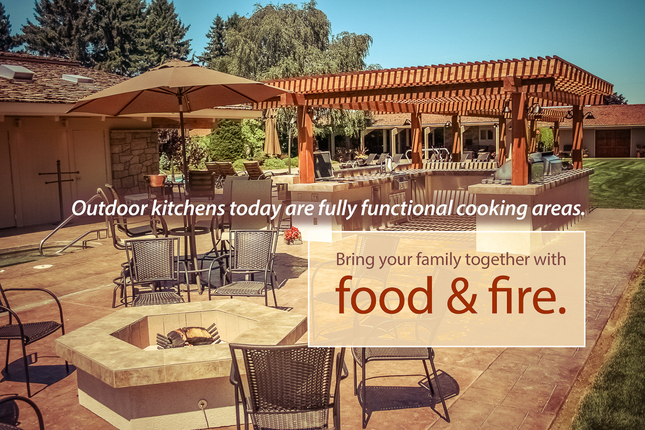 Call Fire & Water today and ask about your own custom designed OUTDOOR GOURMET KITCHEN.