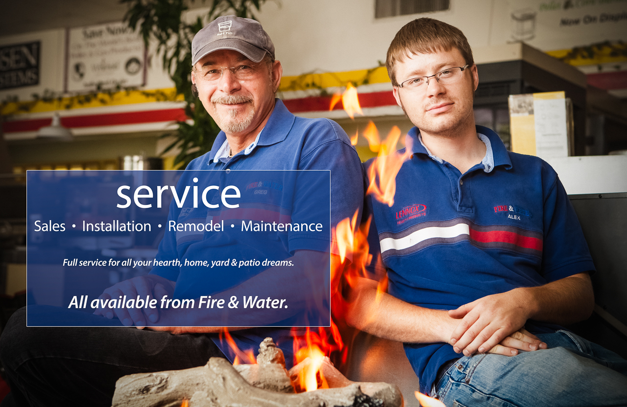 Full service sales and installation from Fire & Water